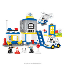 90PCS Police Station Construction Brick Large Building Block Toys
