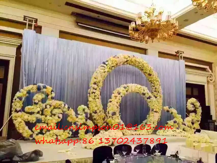 White metal wedding flower arch,garden flower decorative arch wholesale