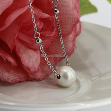 925 sterling silver pearl necklace, fashion pearl necklace, freshwater pearl necklace