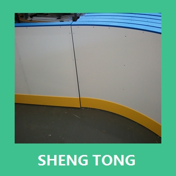 uhmwpe ice rink barrier board, plastic synthetic board for hockey/ ice court