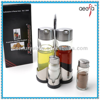 Kitchen 4pcs/set glass oil and vinegar cruets