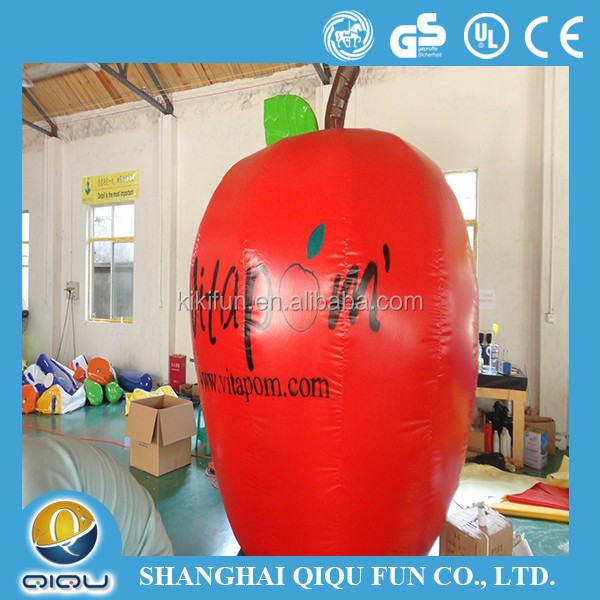 2016new design lovely fruit inflatable red apple for decoration