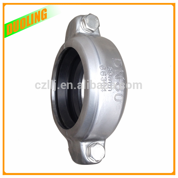 "Cheap price 2.5"" DN65 76mm adjustable pvc coupling for Grooved Fittings Made in China"