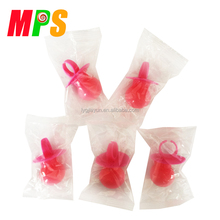 14G IT'S A GIRL BRIGHT PINK BABY PACIFIER SHAPE HARD CANDY