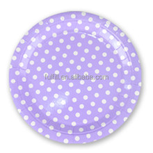 Birthday party supplies for kids dots design paper plate