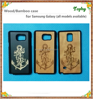 Factory Price Bamboo Mobile Phone Protective Hard Cover Case For Samsung Galaxy Note 5
