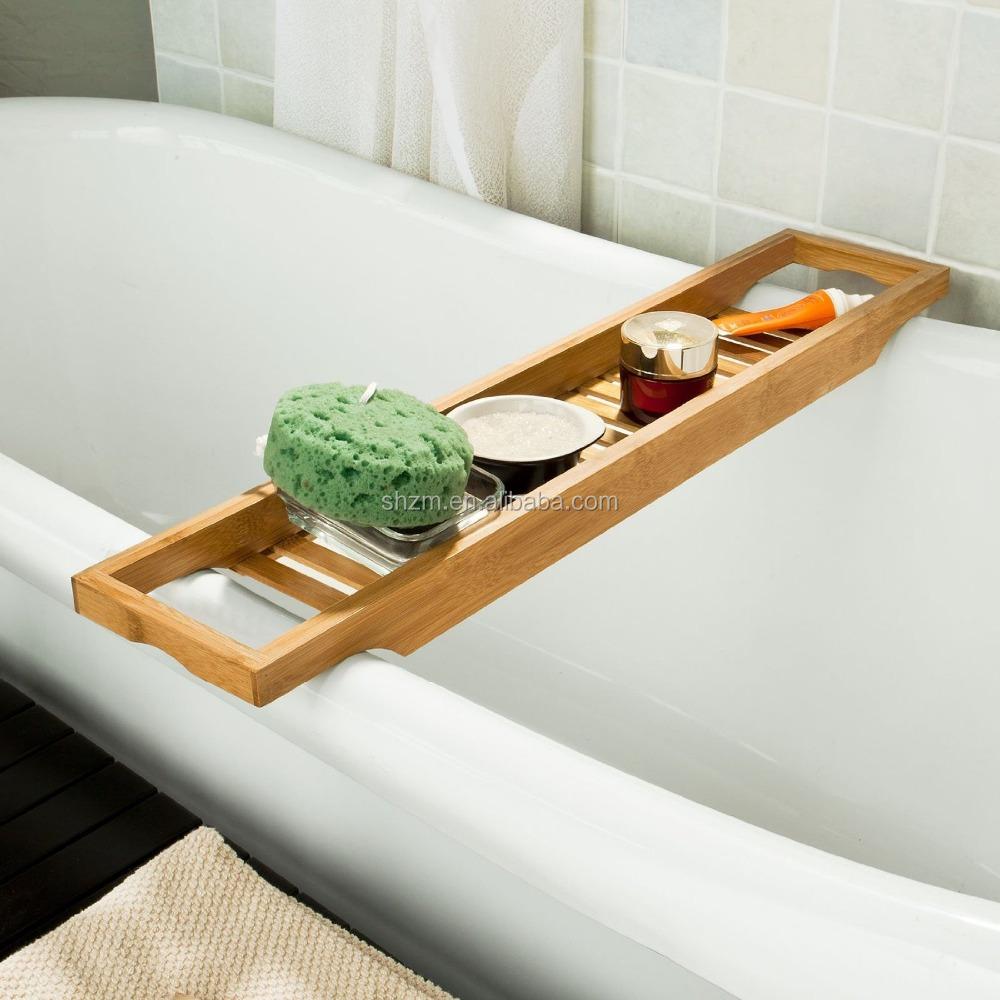 China supplier bamboo bath shelf high quality bamboo for Bathtub bath accessories