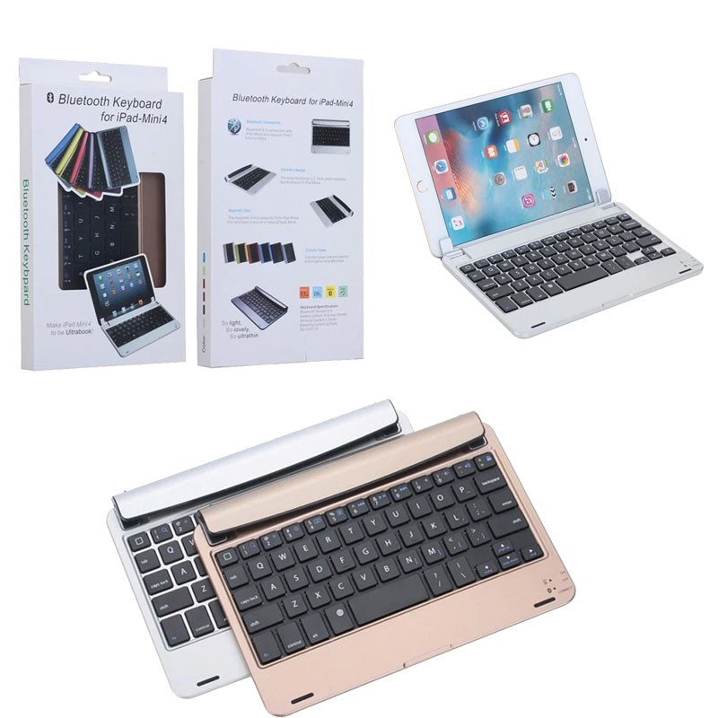 New arrivals Aluminum bluetooth keyboard for ipad mini 4 , for ipad mini4 bluetooth keyboard accessories