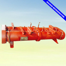 Shell and tube type water cooled condenser tube heat exchanger condensing units refrigeration