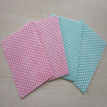 polyester/ viscose foam impregnated nonwoven household cleaning cloth customized printed chemical bond non woven wipes