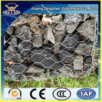 Quality guarantee Galvanized gabion / PVC coated gabion basket / gabion box stone retaining wall cage
