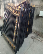 Garden Wrought Iron Gate Metal Yard Gate Welded Mesh Fence Gate