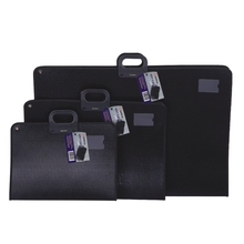 Easy to carry Art Painting black PP A2 Document bag / Business bag / brief case