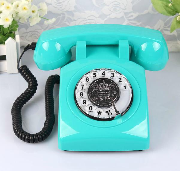 Old style telephone Rotary dial antique telephone SIM card desk phone