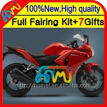 Gloss red blk Body For HONDA Injection CBR250R MC41 Red black 11-13 11CL38 CBR 250R CBR250 R 11 12 13 2011 2012 2013 Fairing