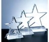 Glass Trophy Award with Customized Logo