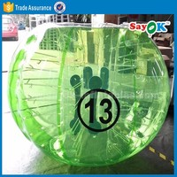 dia 1.5m human inflatable bumper bubble ball soccer loopy ball price