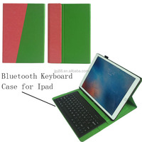 Fashion popular 12.9 inch Leather case For ipad pro with Bluetooth keyboard
