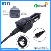 IBD Type c usb port mobile phone car charger 9V 2A charger for HTC M9