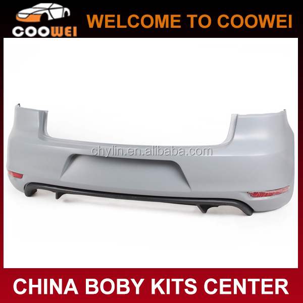 PP MK6 GTI Rear Bumper for VW Golf VI MK6 GTI Bumper Kits