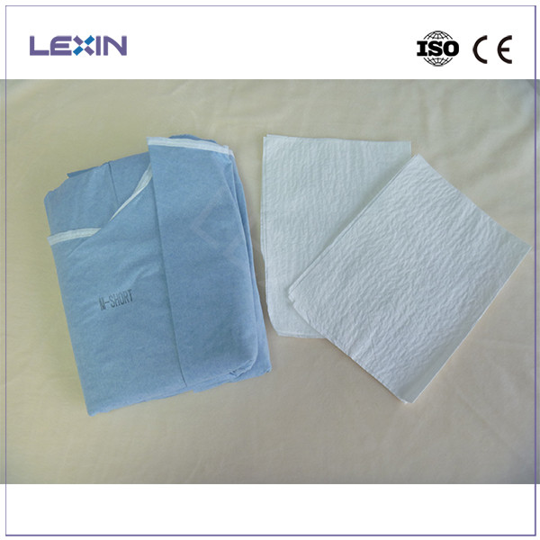 Disposable spunlace operating gown from Hubei