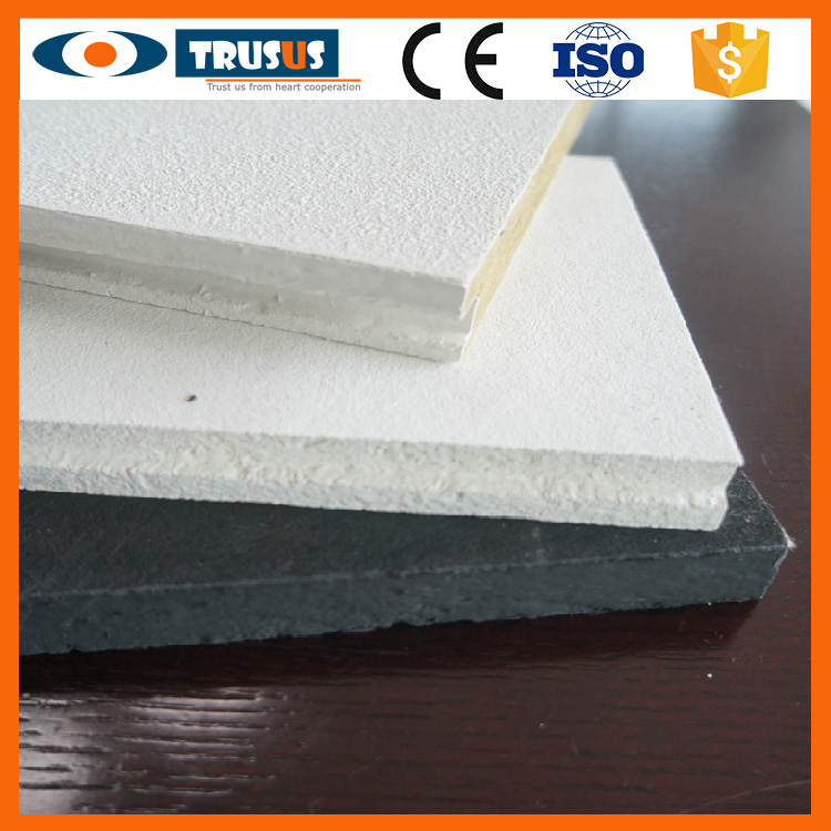 Light weight Class A1 Free Asbestos Ceiling Glassfiber Tiles