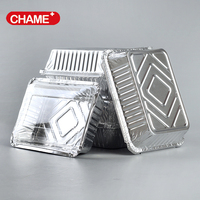 china suppliers hebei smoothwall disposable aluminum foil container / tray /lunch box for food packaging