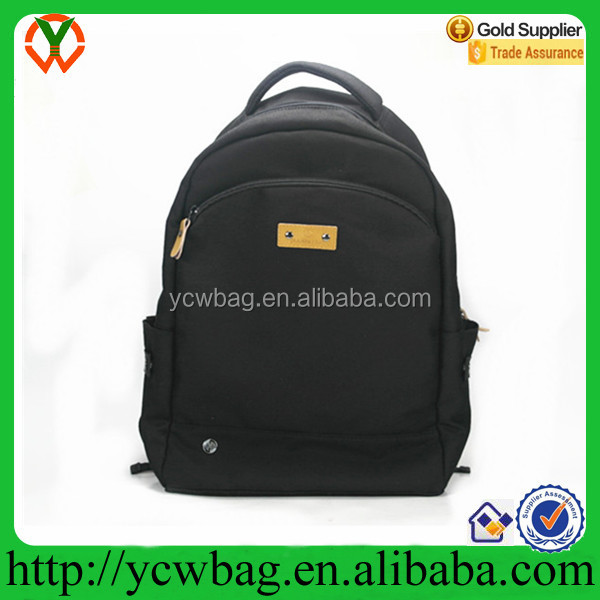 Young girls backpack fashion black nylon backpack