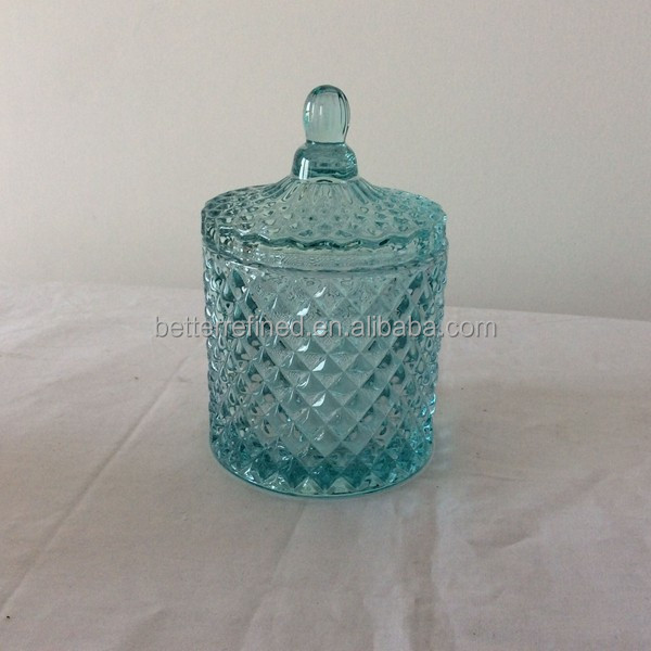 Crystal Clear thick glass jar for candle