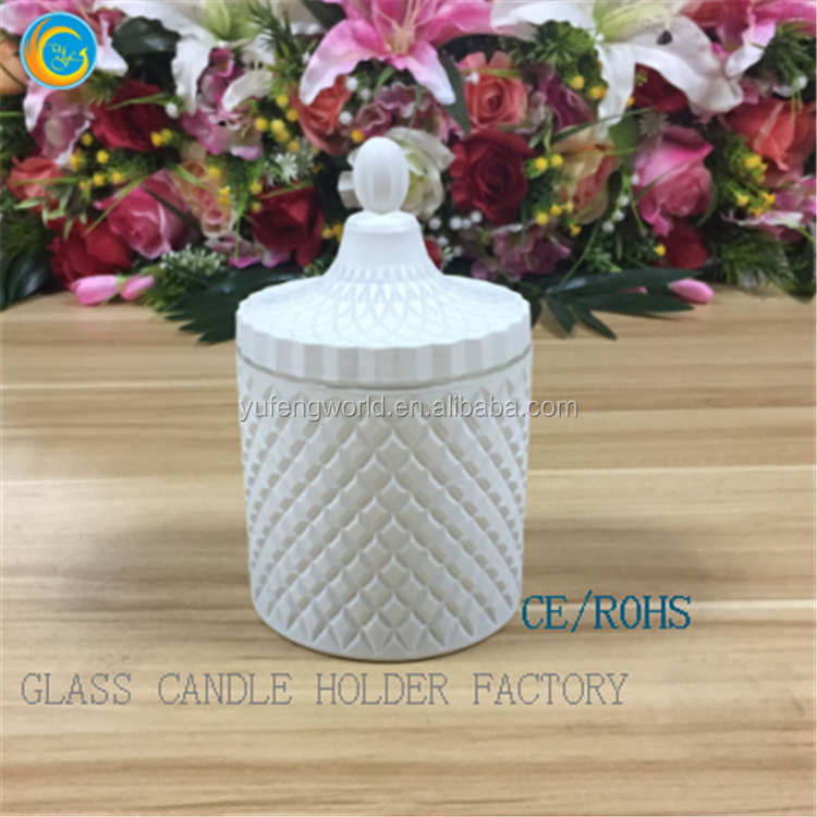 yufeng glass candle holders with lid glass apothecary jars uk