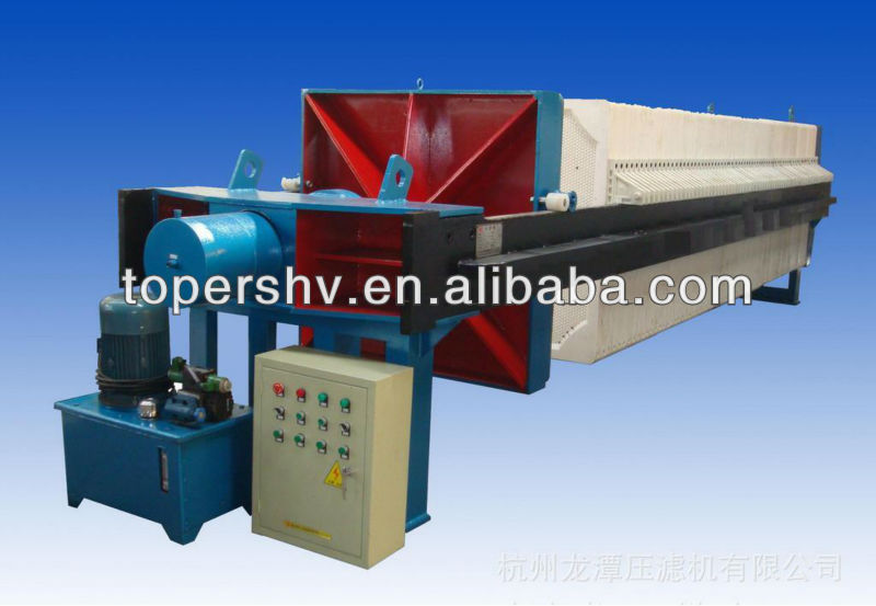 Small hydraulic compress filter press use in mining,chenical, inorganic salt, foodstuff, textile