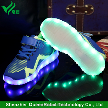 Kids Shoes 2017 Battery Powered USB Rechargeable Yeezy Style LED Light Kids Shoes