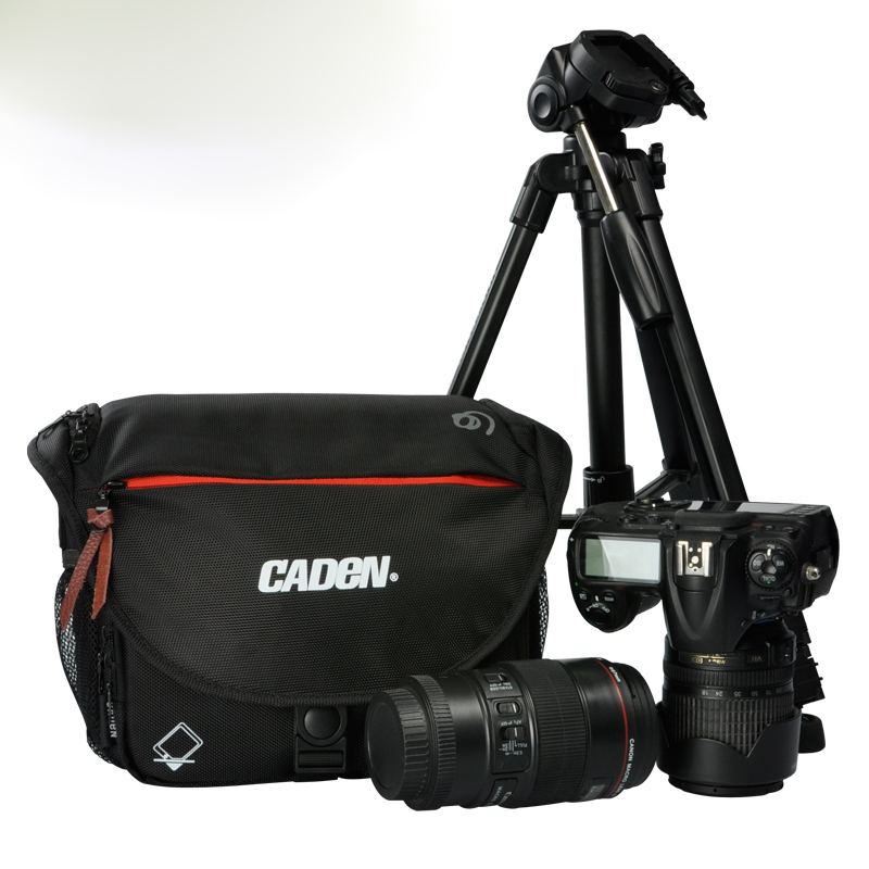 Caden D4 stock promotion product fashionable waterproof nylon compact professional dslr camera bags photography bags