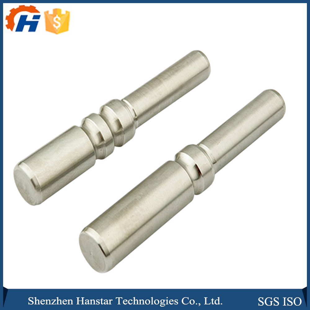 Custom made metallic spare parts various aluminum metal rod by CNC machined