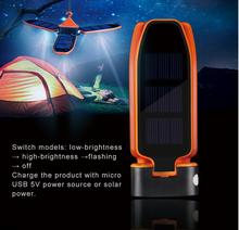 New Hot Selling Products Inflatable USB Rechargable Solar LED Camping Light