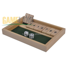 9 Number Wooden Shut The Box Game Dice Games Educational Games