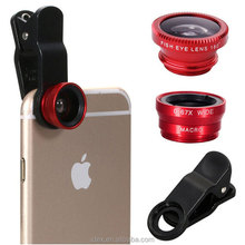 Fisheye Lens Wide Angle Macro 3 in 1 Universal Clip Camera Cell Mobile Phone Lens For iPhone 4 5 6 7 Plus Samsung S7