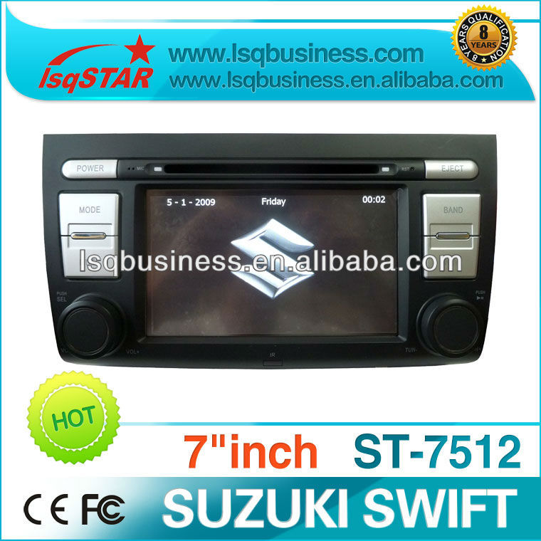 Car media player for SUZUKI SWIFT with GPS navigation/Bluetooth brive/smart TV/IPOD,ST-7512