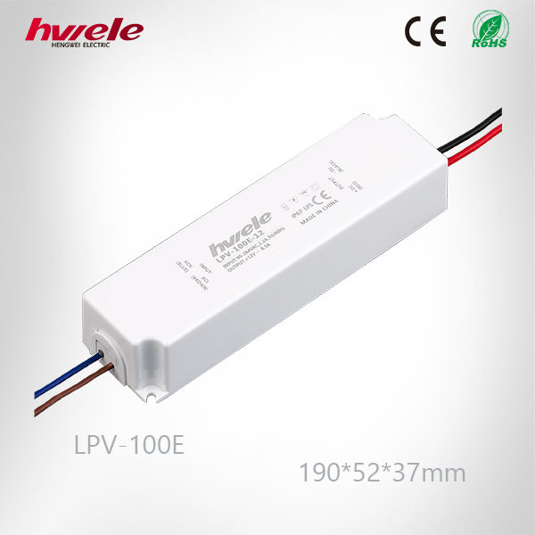 LPV-100E LED 24v electronic constant voltage waterproof LED driver high efficiency 3 years warranty