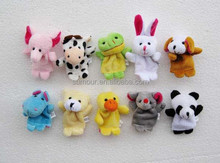 Various Cute Animal Shaped Plush Finger Puppet