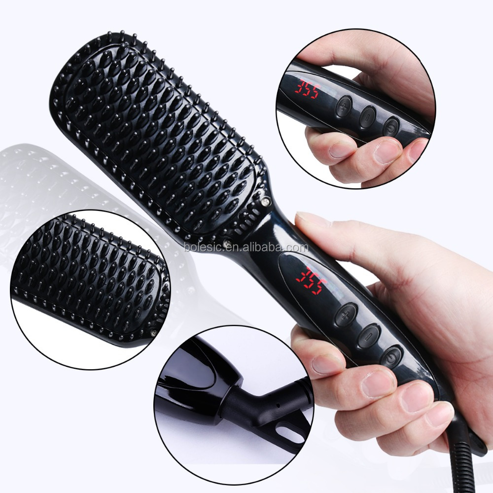 New Professional Automatic Personalized Hair Straightener Brush Electric Straightening Irons Straight Steam comb