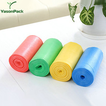 Factory recycled disposal plastic ldpe colored clear pet dog garbage bags with logo