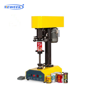 NEWEEK table automatic press type plastic beer beverage can sealing machine