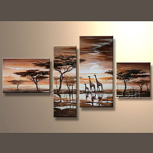Exellant Group Oil Painting Landscape Natural