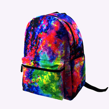 Hot Selling Polyester Sublimation Galaxy Printing School Backpack for High School with Laptop Compartment
