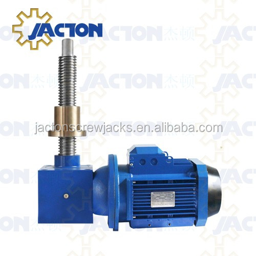 reliable and high quality JTC series motorized worm gear lifting jack for electric jacking system