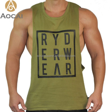 Custom Made Fitness Deep Cut Tank Tops Mens Sports Gym Clothing