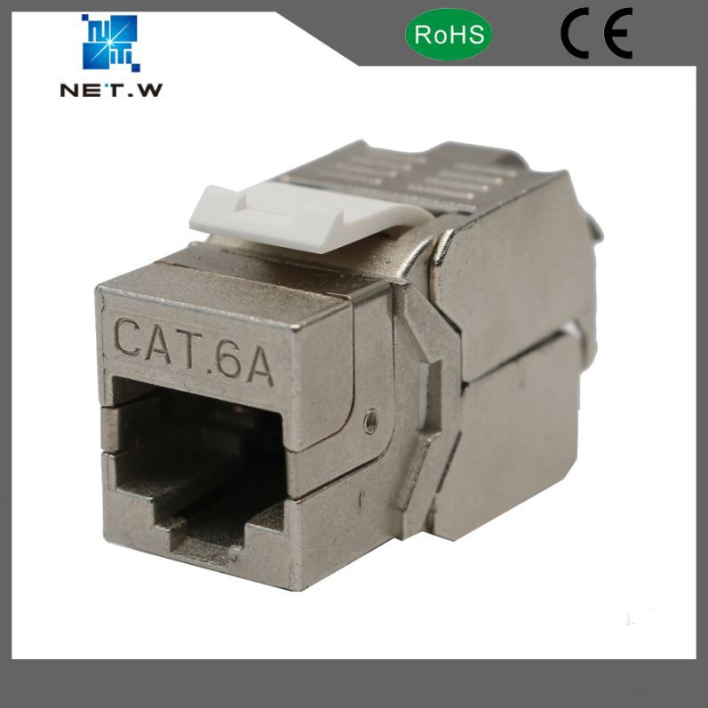 Network Solution RJ45 STP Female Connector Cat 6A Modular Keystone Jack