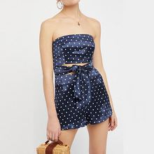 Hottest selling woven ladies sexy dot short jumpsuit