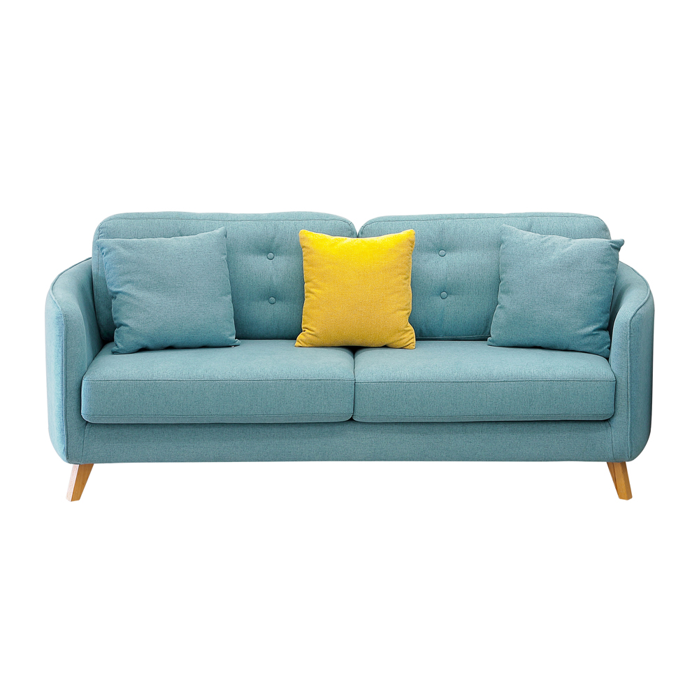 Eropa utara gaya sofa furniture sederhana modern ruang tamu sofa 3 seater single kursi kain sofa